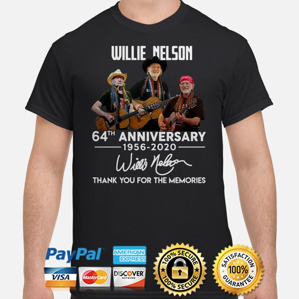 Willie Nelson 64th anniversary thank you for the memories signature shirt
