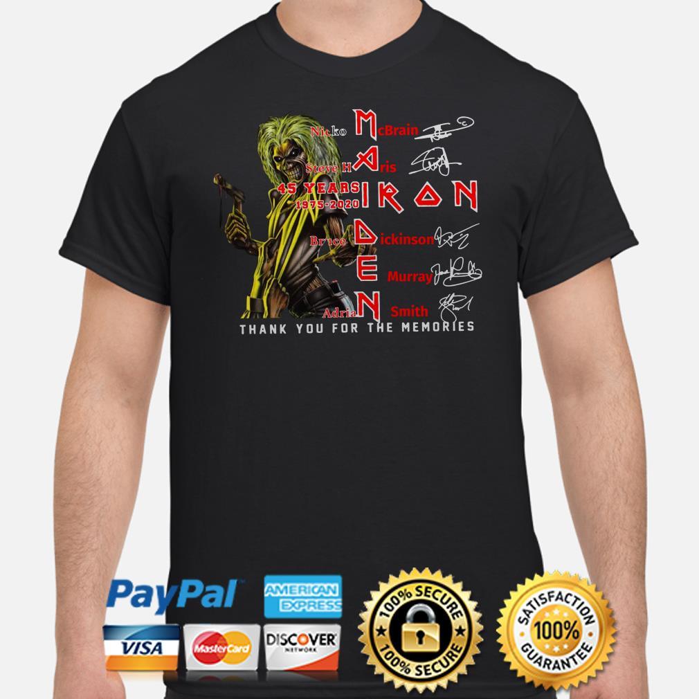 Iron Maiden Nicko McBrain Steve Harris signature shirt