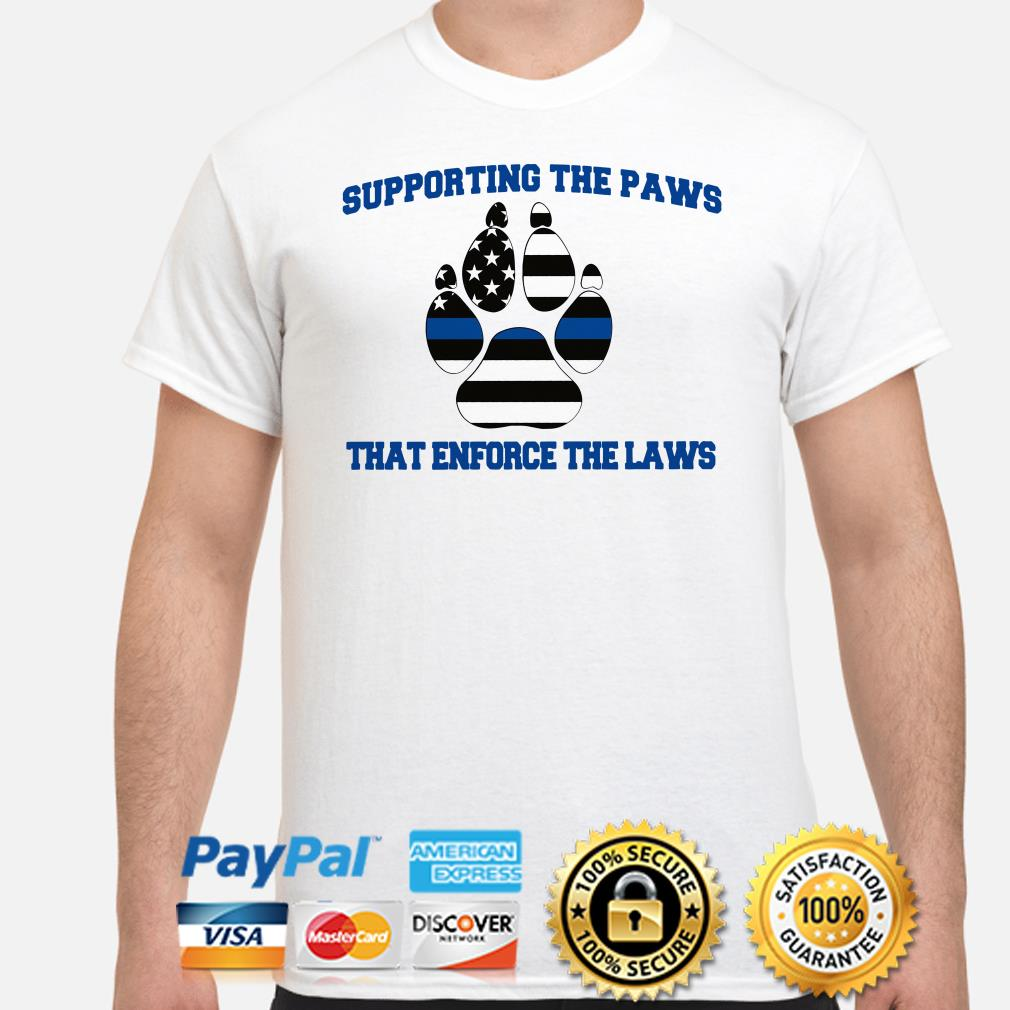 Supporting the Paws that enforce the laws USA flag shirt