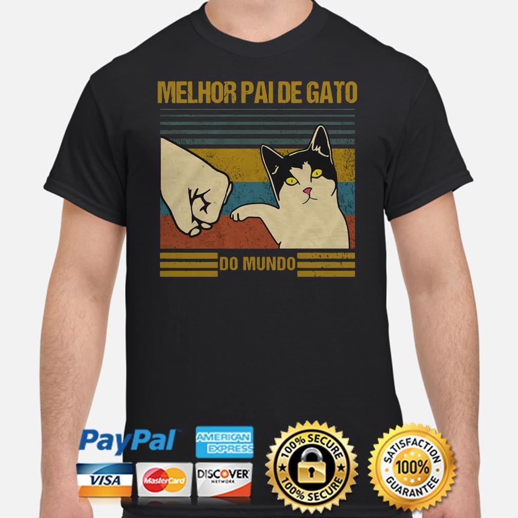 Melhor Paide gato do mundo vintage shirt