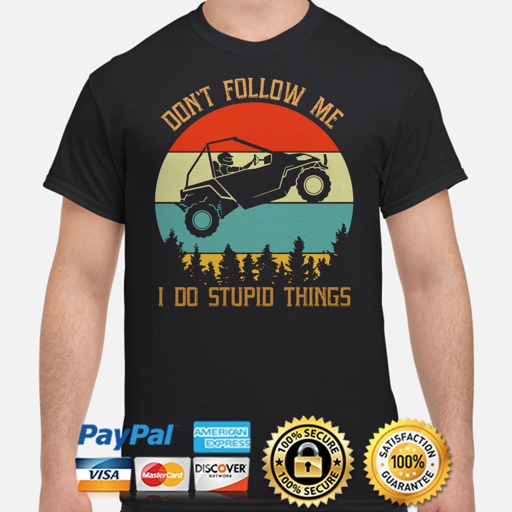 Easter Jeep safari don't follow me I do stupid things vintage shirt