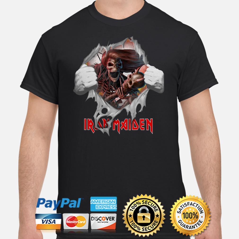 Iron Maiden Heavy Metal Guitar blood inside shirt