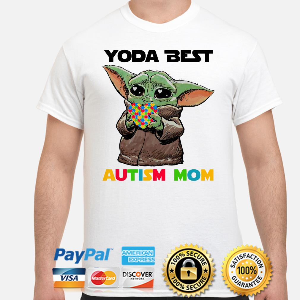 Baby Yoda best Autism mom shirt