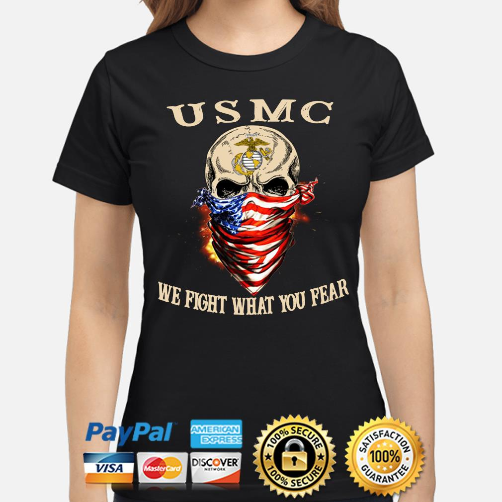 Skull mask USMC Me fight what you fear s ladies-shirt