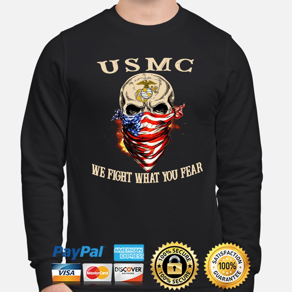 Skull mask USMC Me fight what you fear s sweater