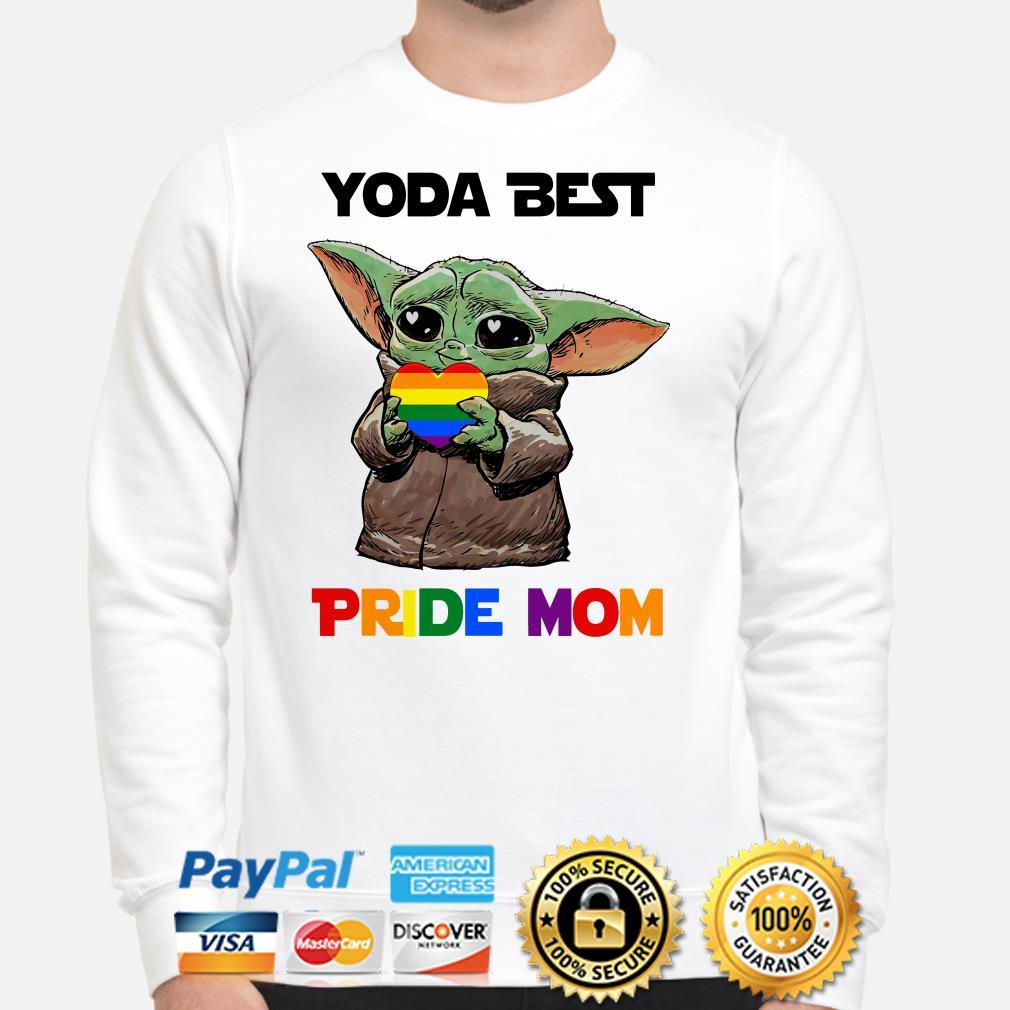 Baby Yoda best Pride mom Sweater