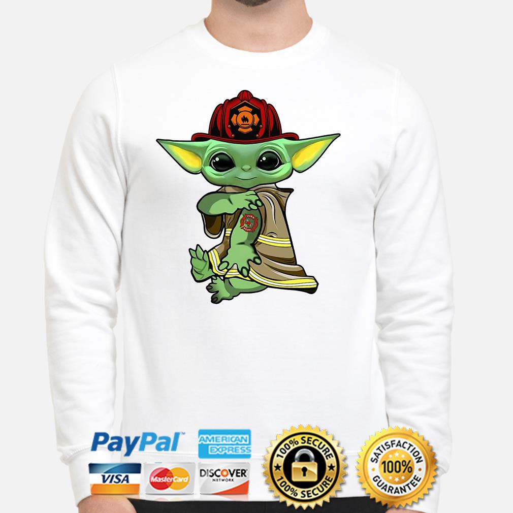 Baby Yoda Firefighter Sweater