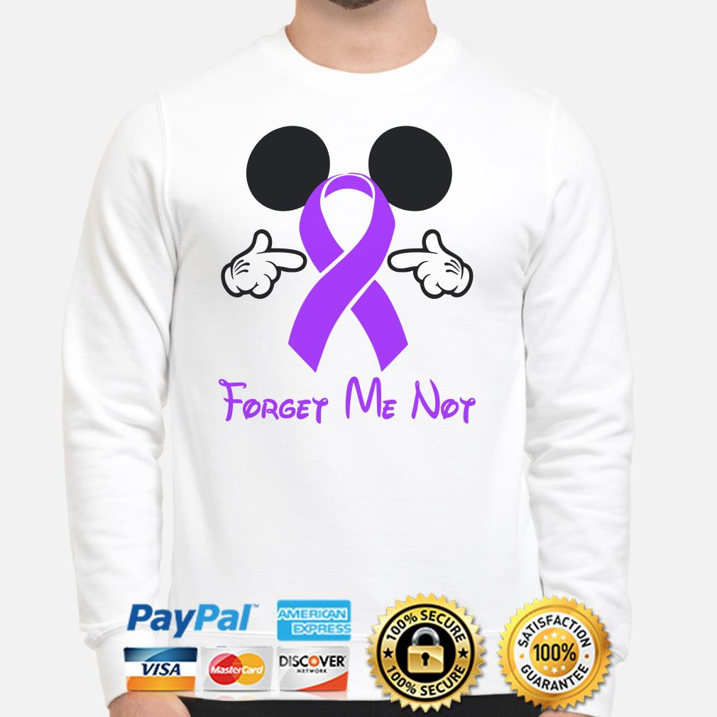 Cancer Ribbon Mickey Mouse forget me not Sweater