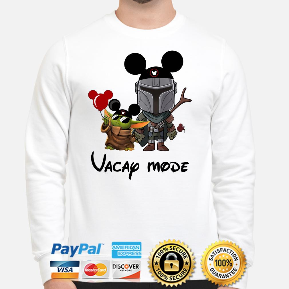 Mickey Baby yoda and Mandalorian Vacay mode Sweater