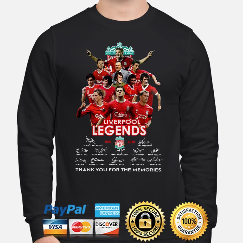 Liverpool Legends thank you for the memories signature Sweater