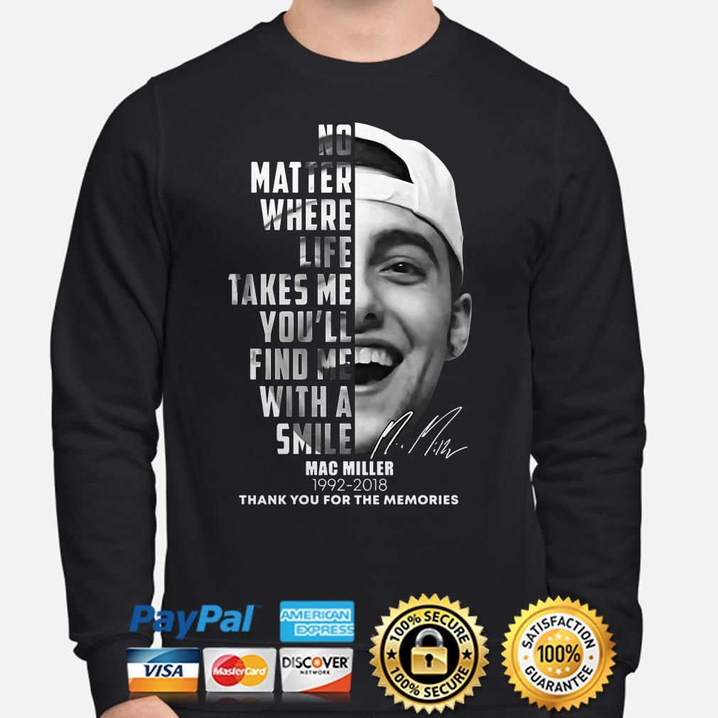 Mac Miller no matter where life takes me thank you for the memories Sweater
