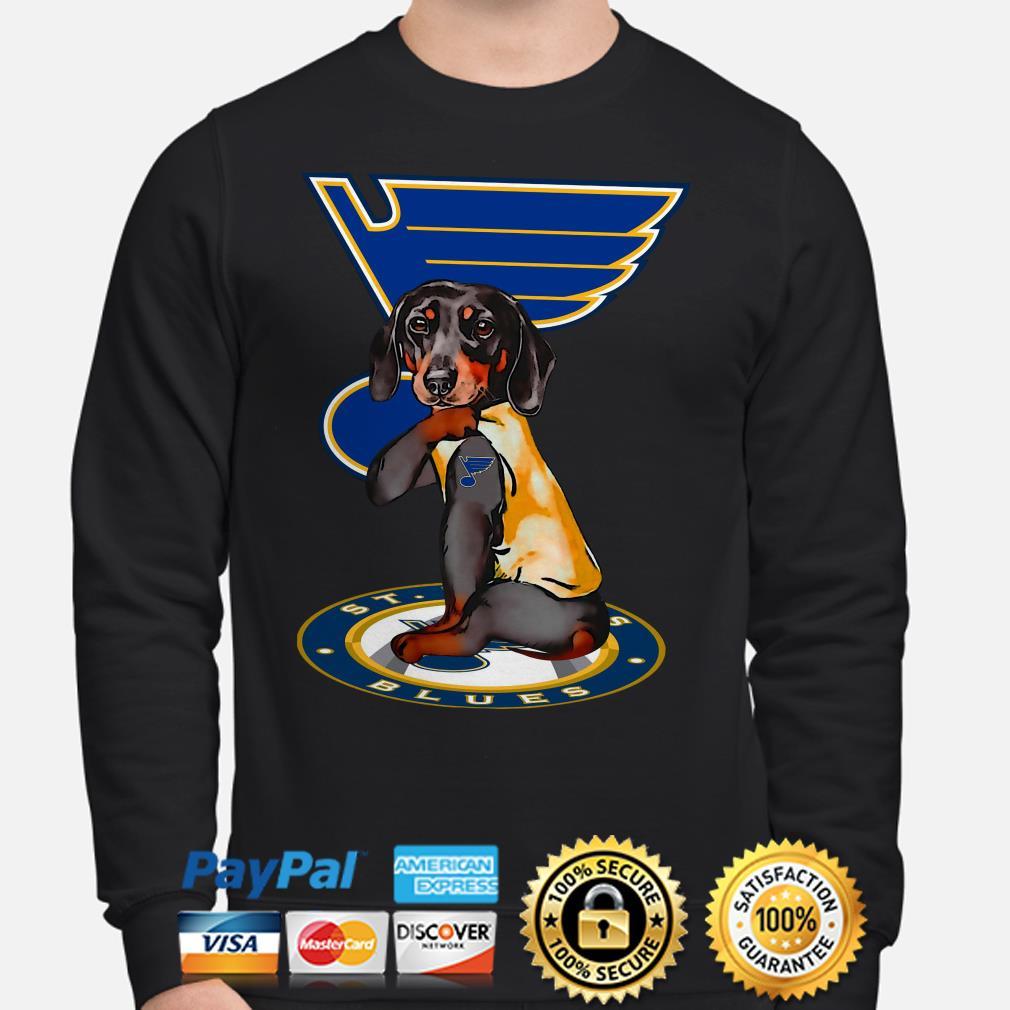 Tattoos Dachshund St Louis Blues Sweater
