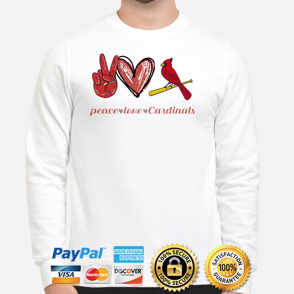 Peace love St Louis Cardinals Sweater