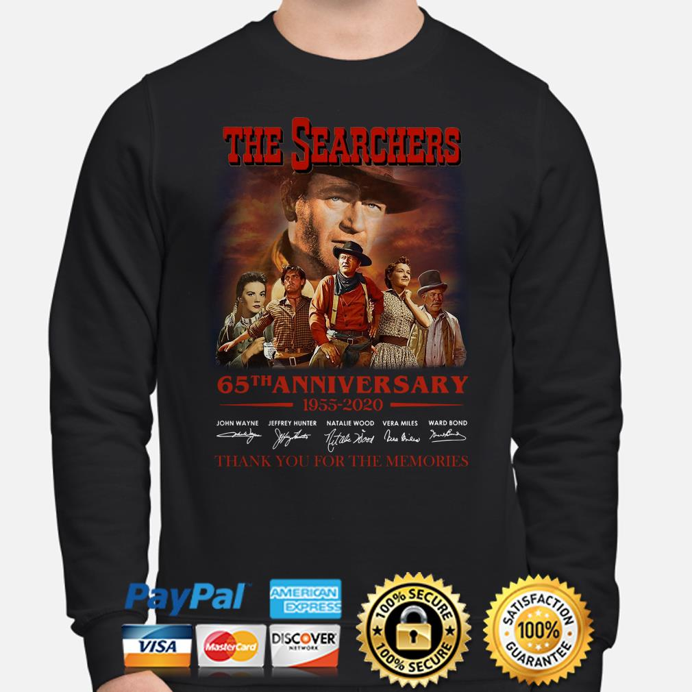 The Searchers 65th anniversary thank you for the memories signature Sweater