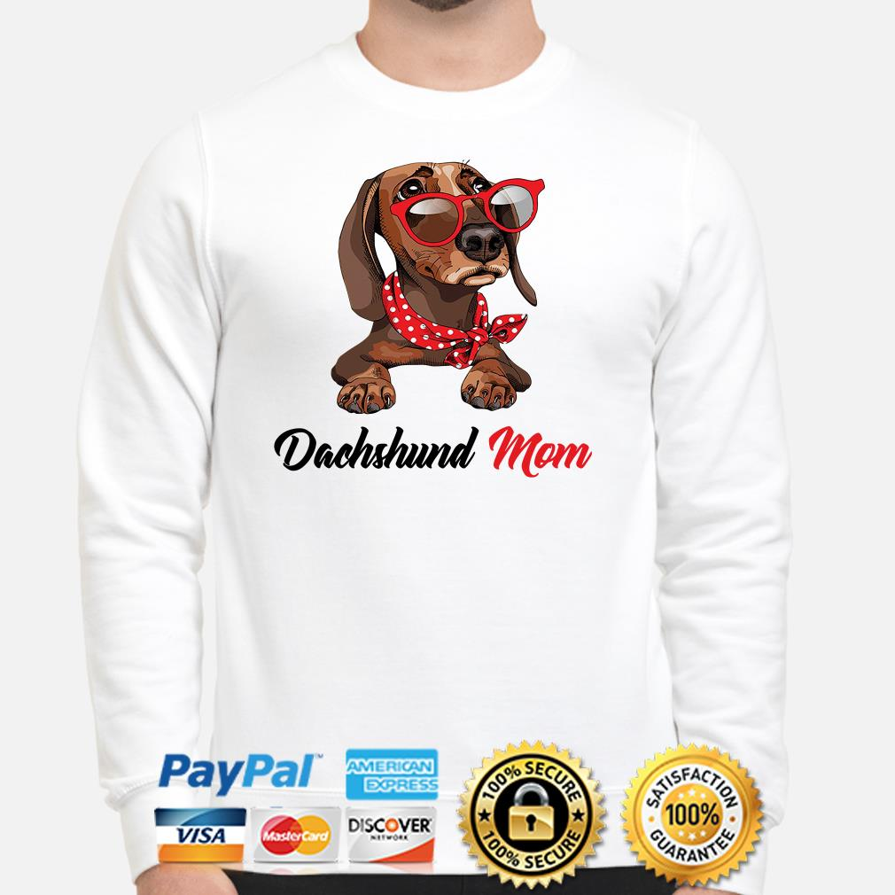 Dachshund mom bandana sunglass Sweater