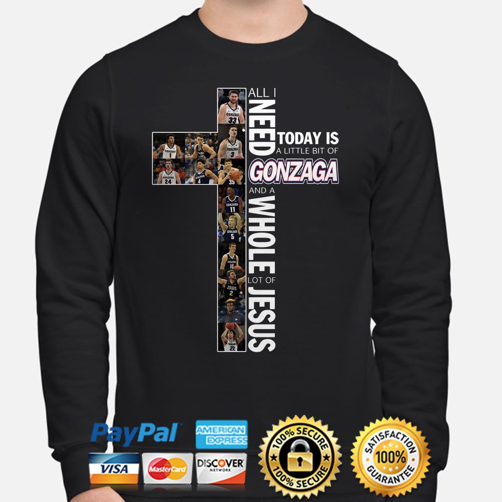 All I need to day is a little bit of Gonzaga and a whole lot of Jesus Sweater