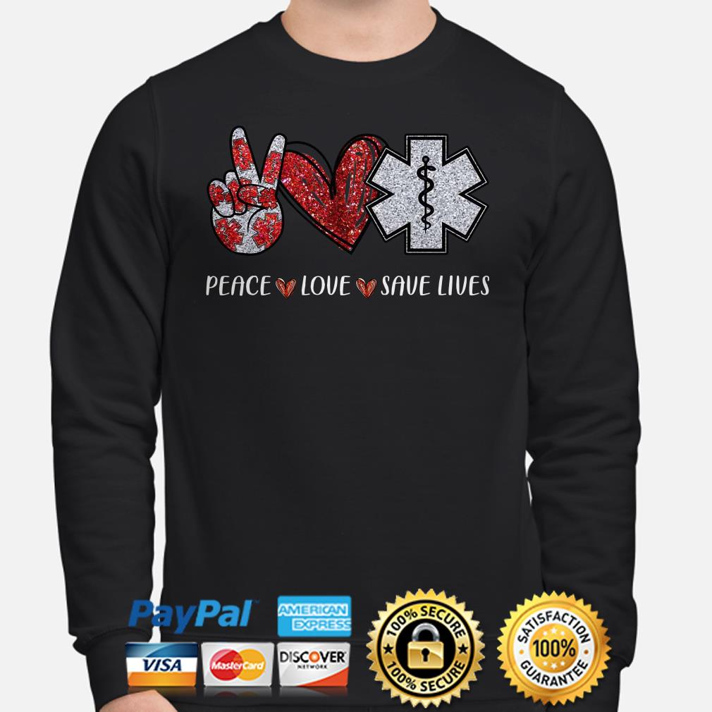 Emergency Medical Peace love save life diamonds Sweater
