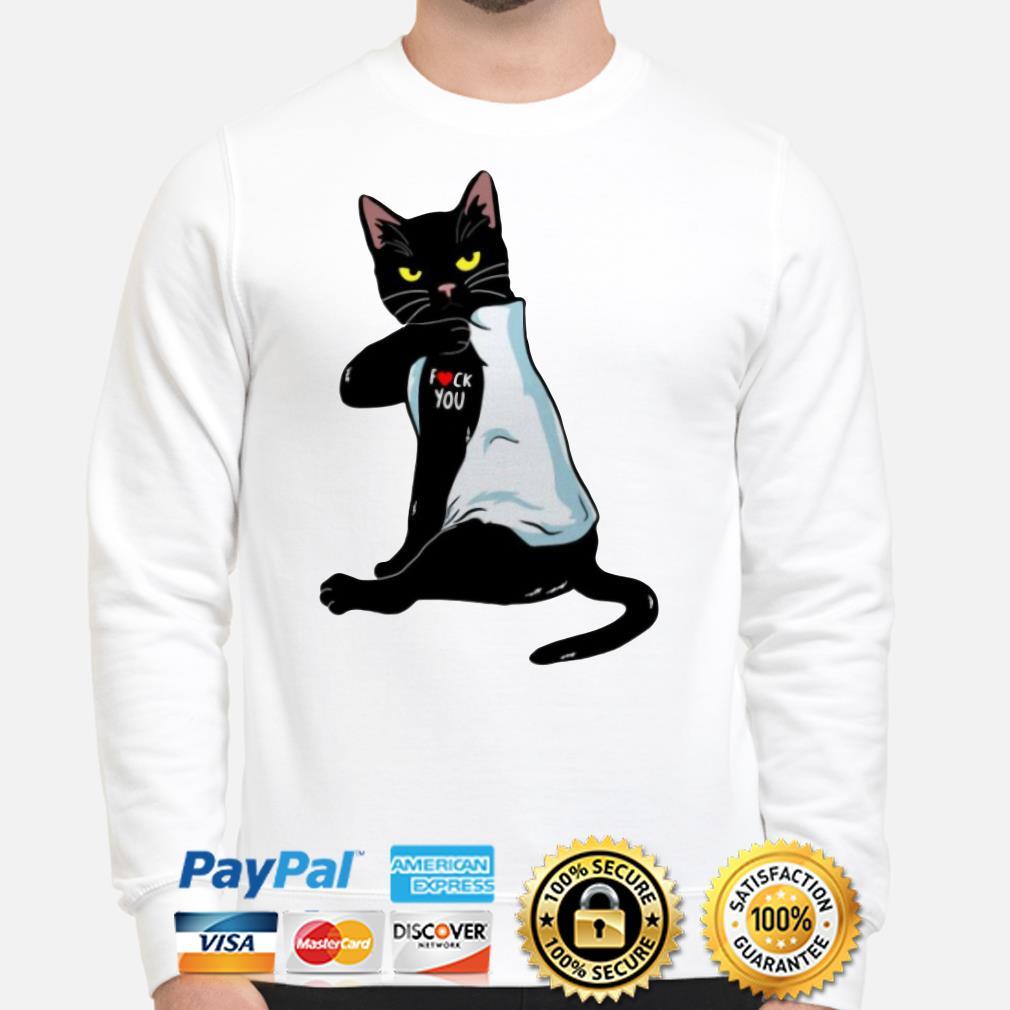 Tattoos black cat fuck you Sweater