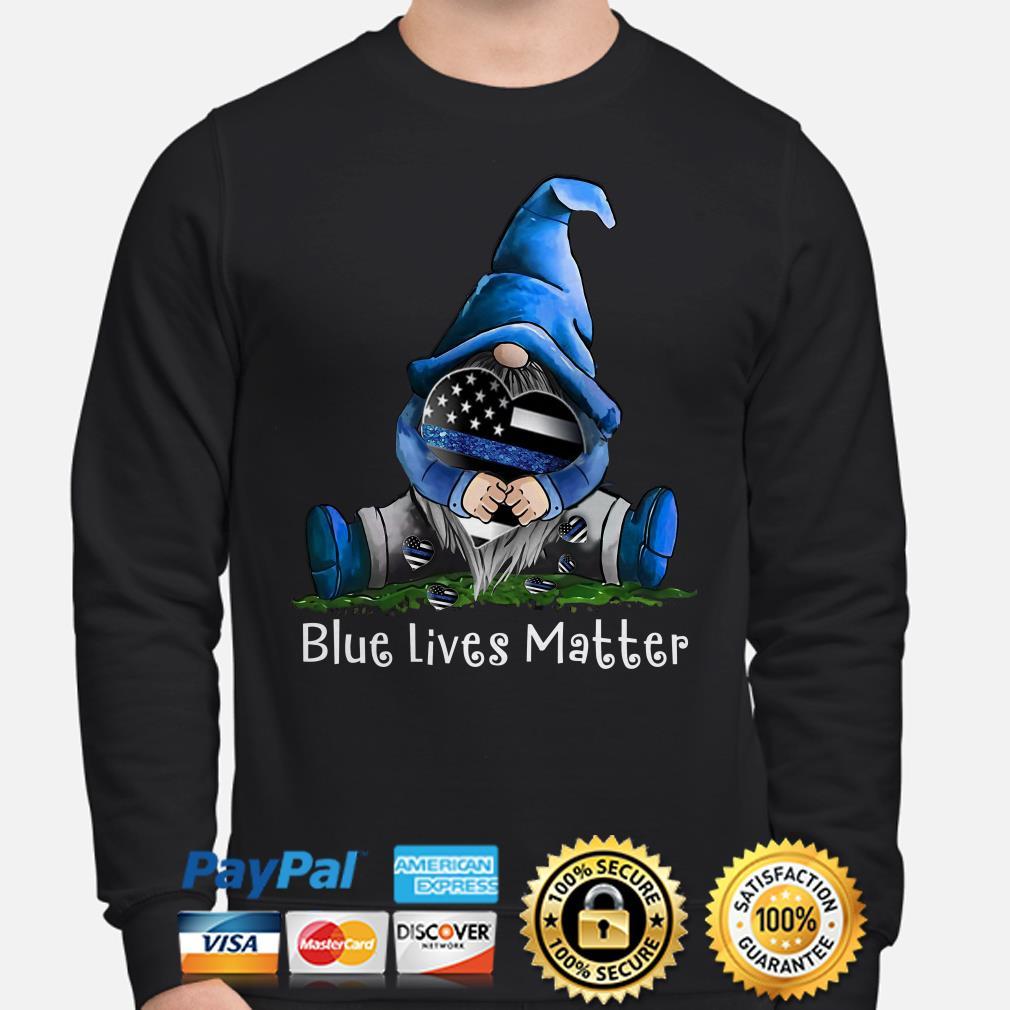 Gnomie hug American flag Blue lives matters Sweater