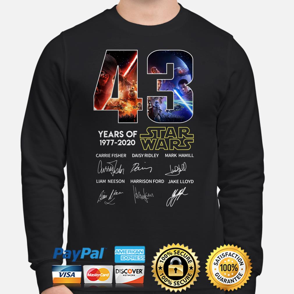 43 years of Star Wars characters signature Sweater