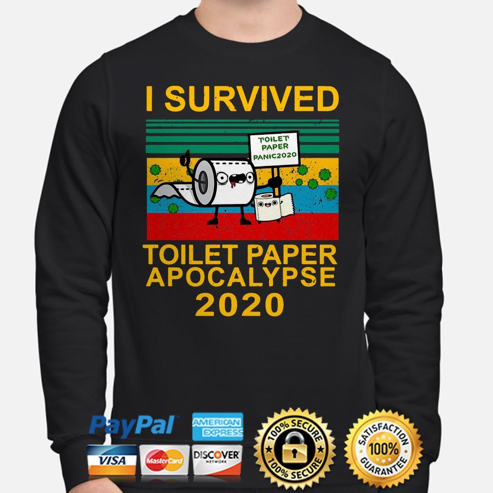 I survived toilet paper panic apocalypse 2020 vintage Sweater