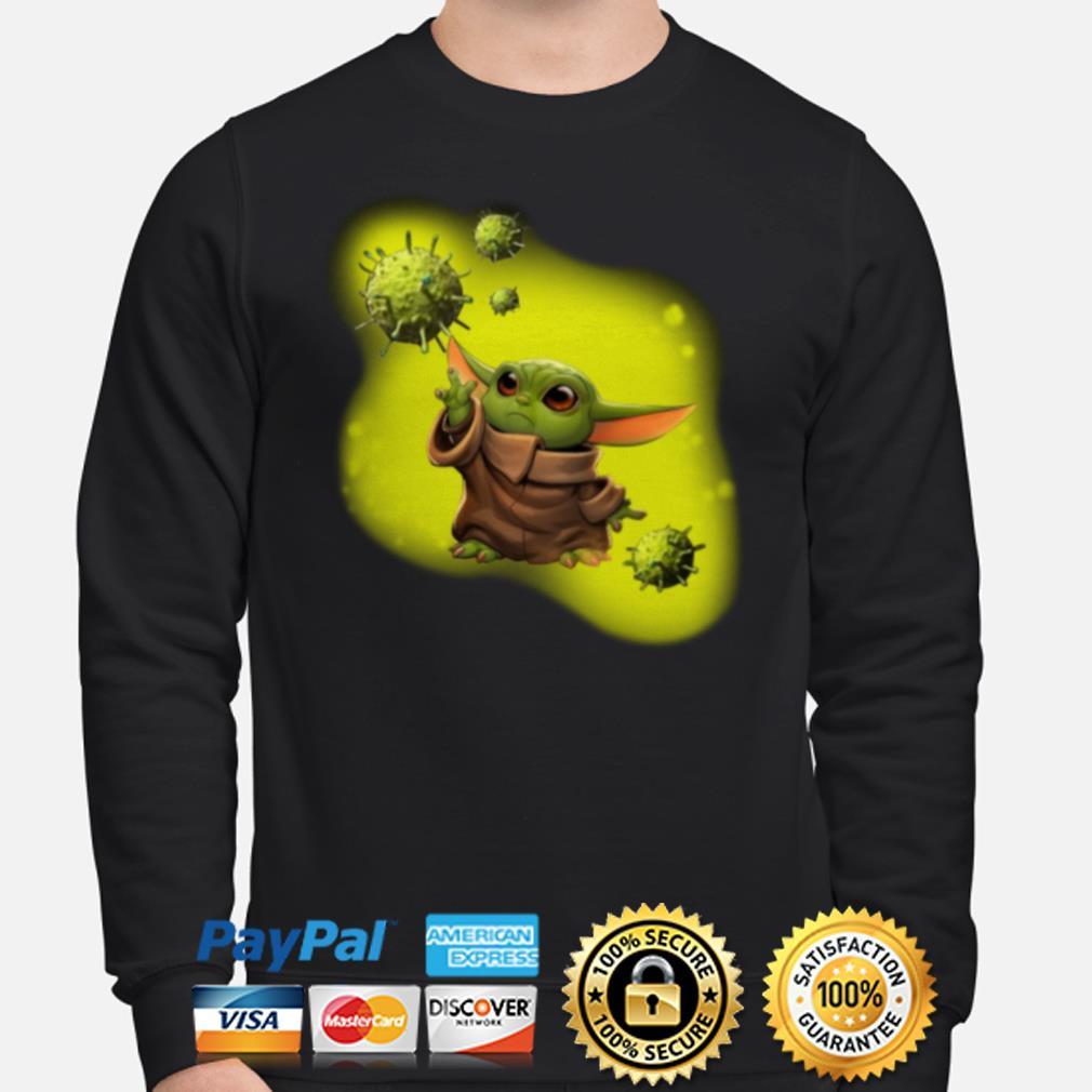 Baby Yoda against coronavirus Sweater