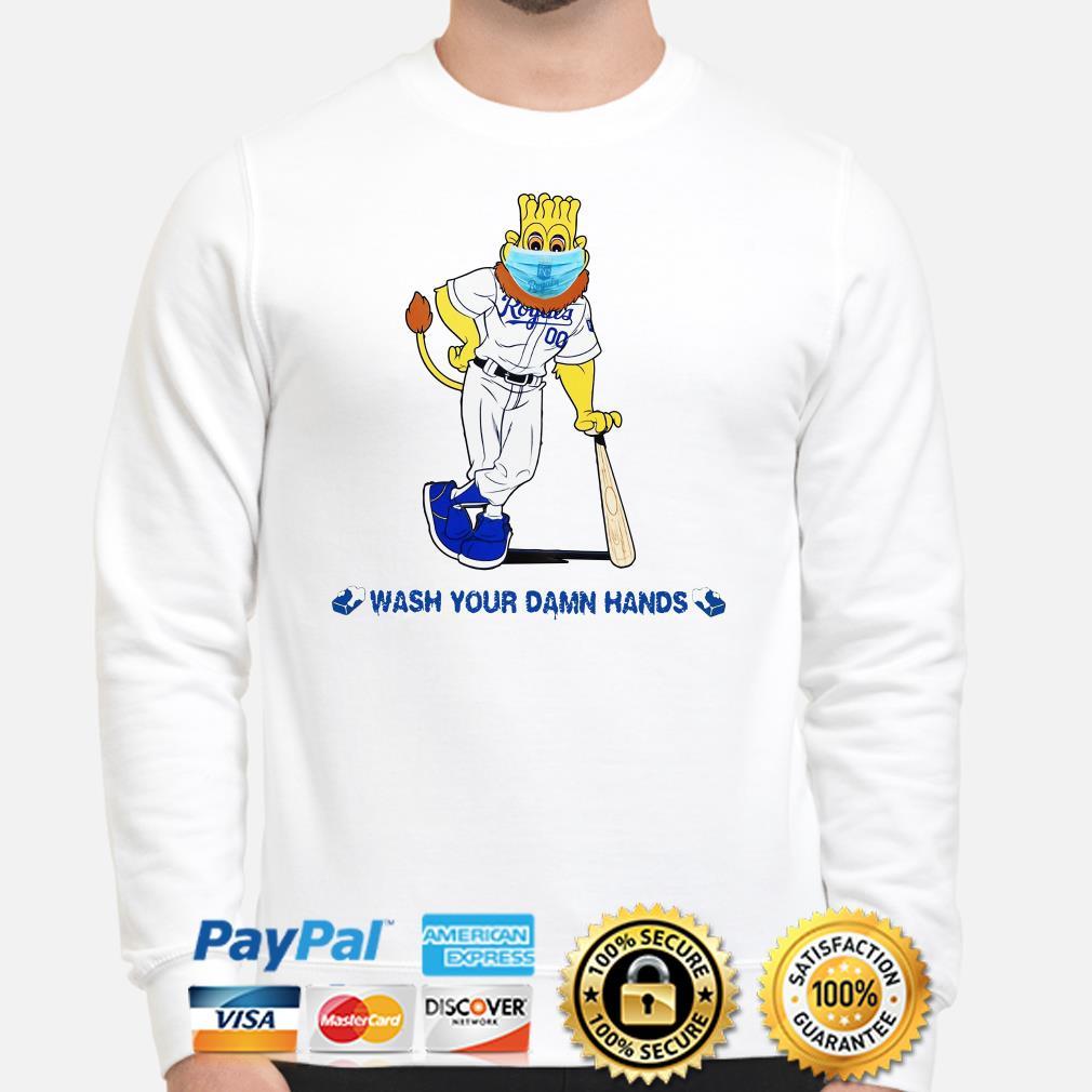 Kansas City Royals mascot wash your damn hands Sweater