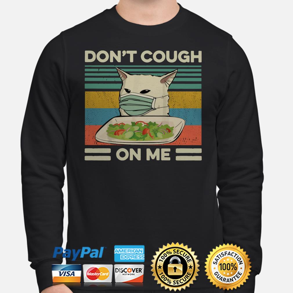 Confused cat at dinner don't cough on me vintage Sweater