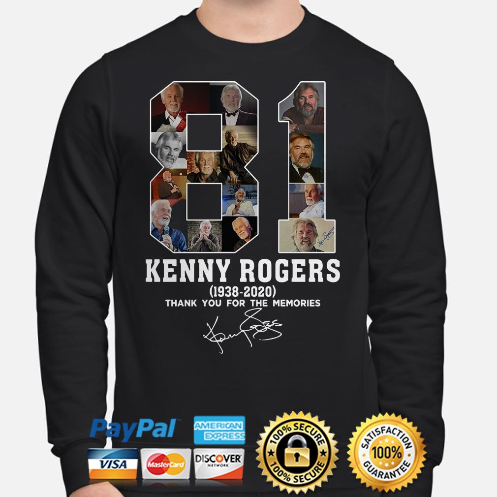 81 years of Kenny Rogers thank you for the memories signature Sweater