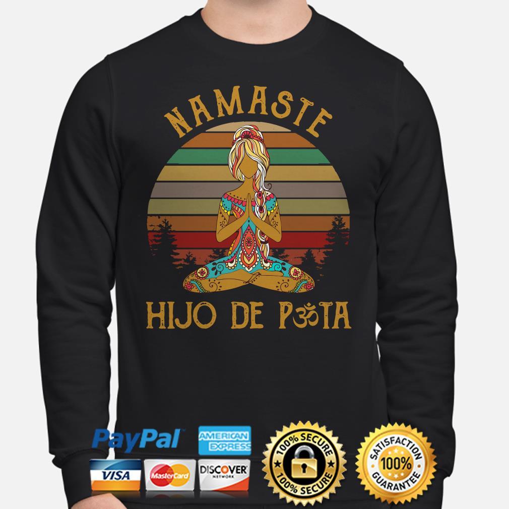 Yoga girl Namaste Hijo De Pasta vintage Sweater