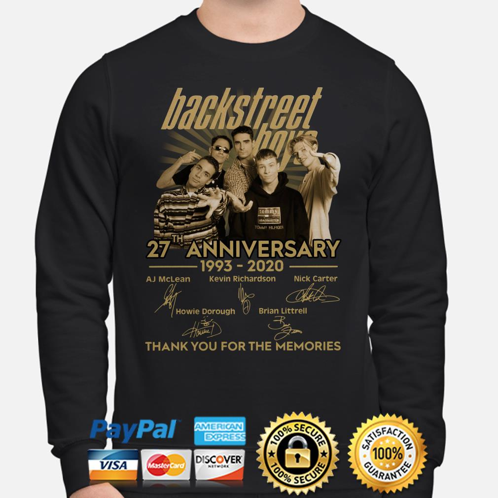 Backstreet Boys 27th anniversary thank you for the memories signature Sweater