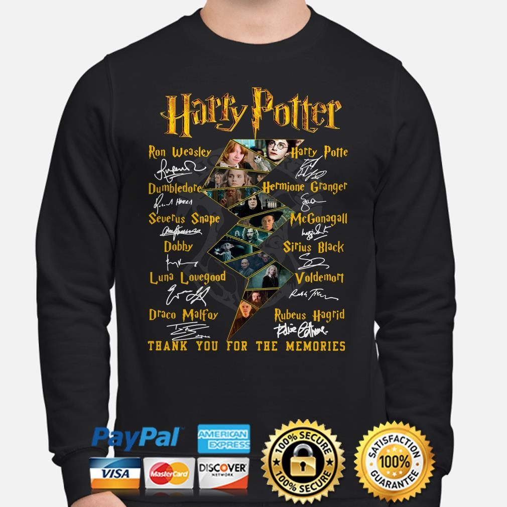Harry Potter Characters signature thank you for the memories Sweater