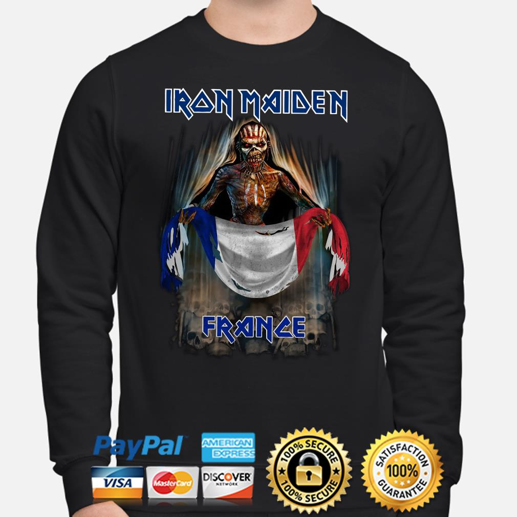 Iron Maiden France flag Sweater