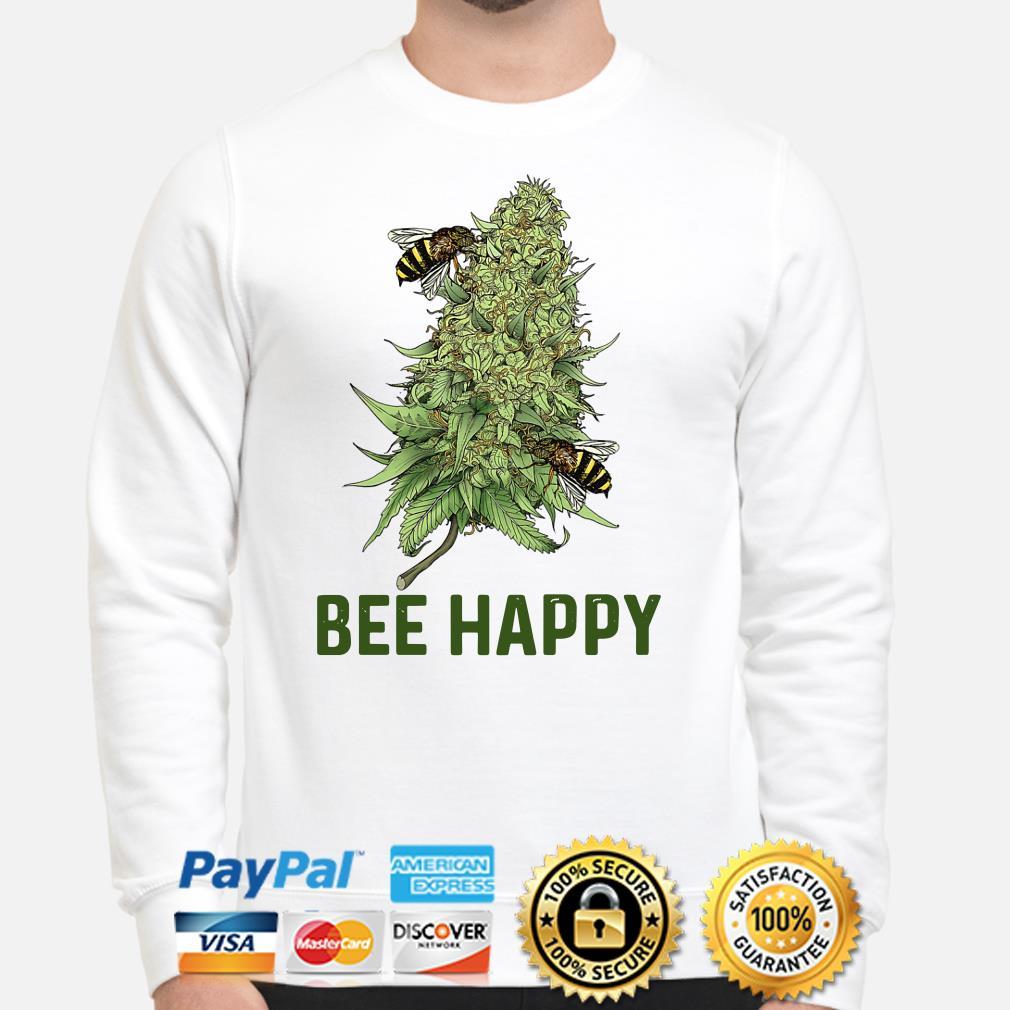 Bees Cannabis Bee Happy Sweater