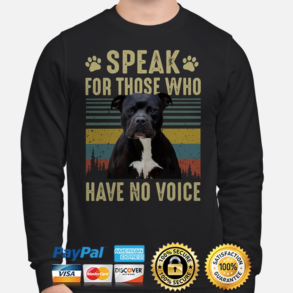 American Bully speak for those who have no voice vintage Sweater