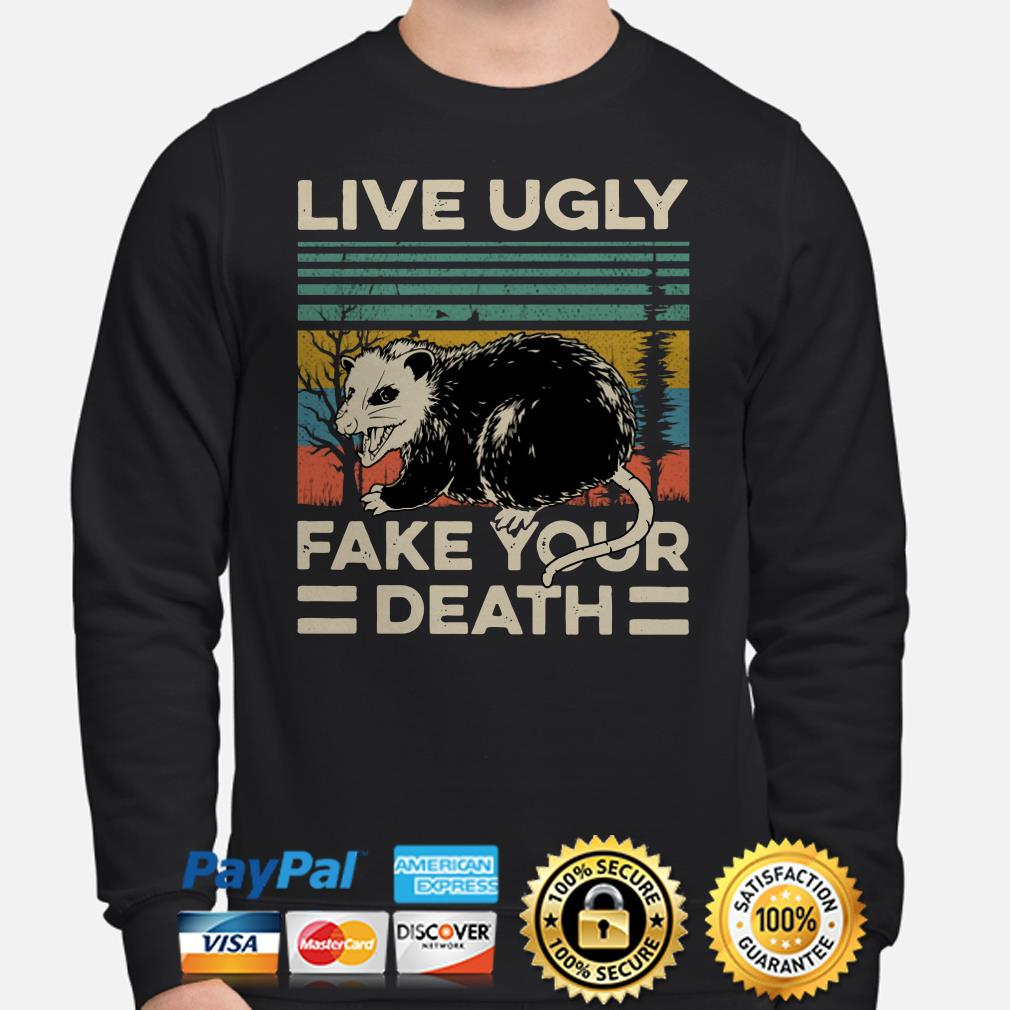 Opossum live ugly fake your death vintage Sweater