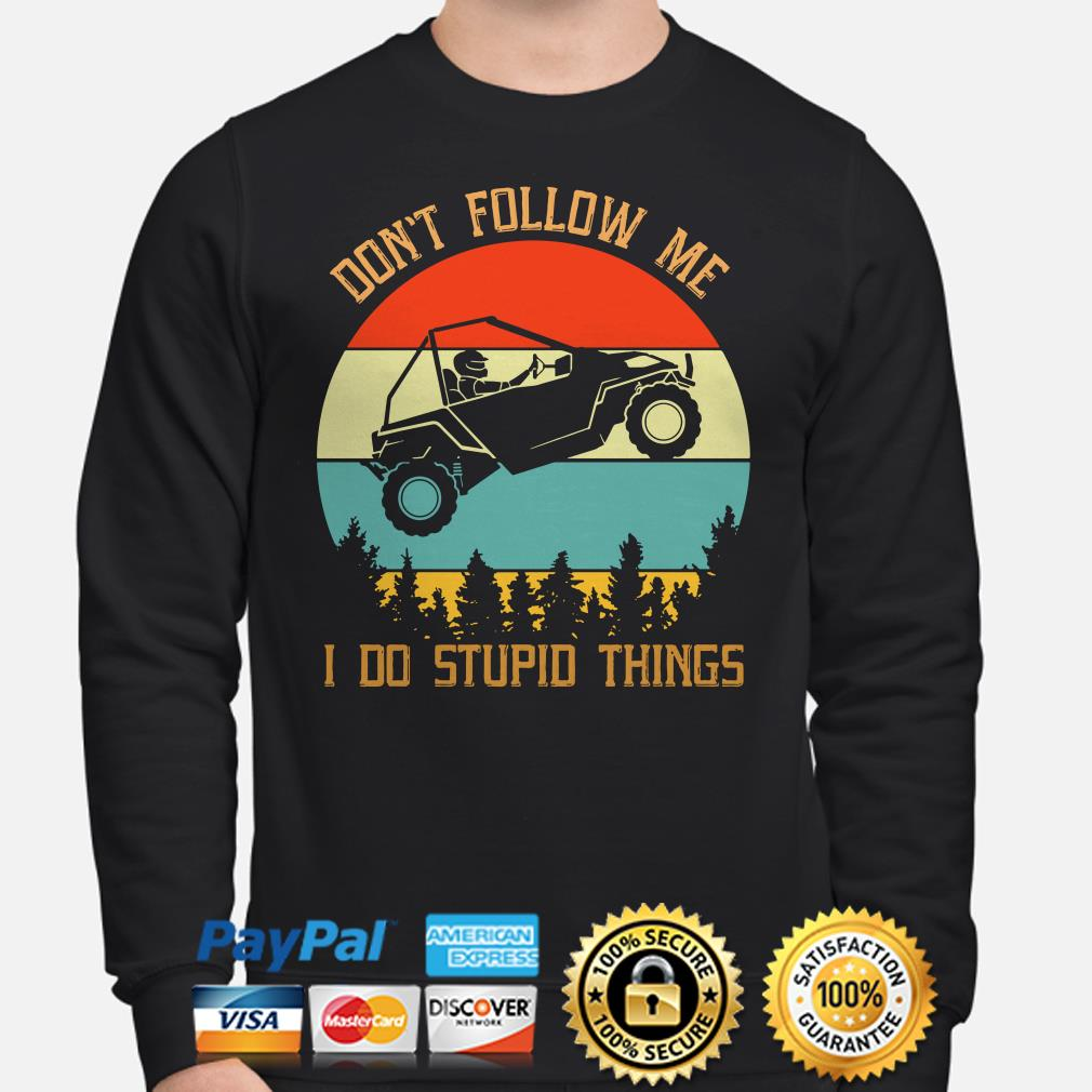 Easter Jeep safari don't follow me I do stupid things vintage Sweater