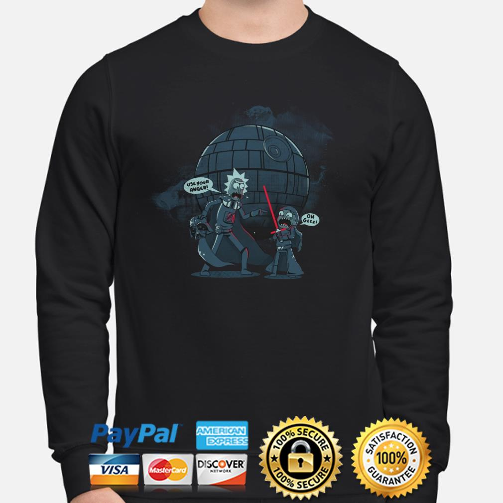 Star Wars Rick and Morty use your anger oh geez Sweater