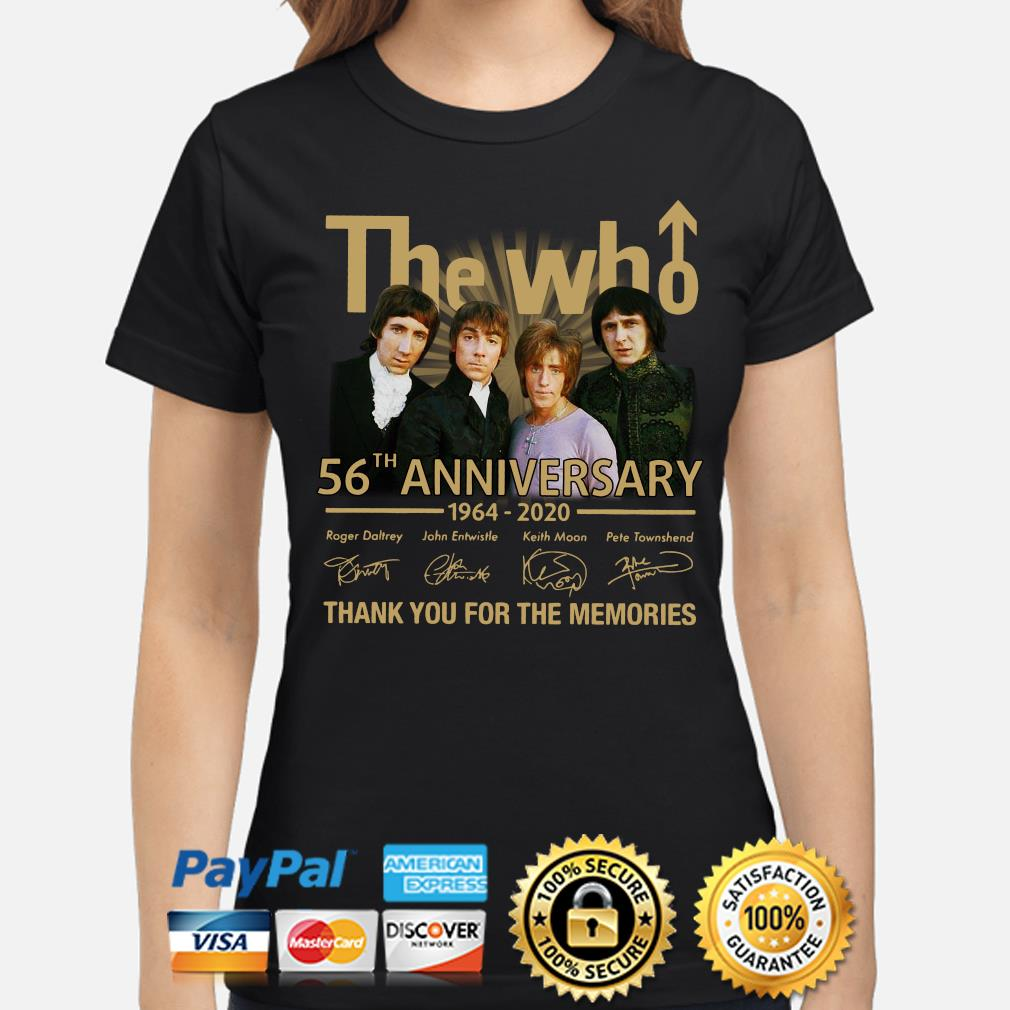 The Who 56th anniversary thank you for the memories signature s ladies-shirt