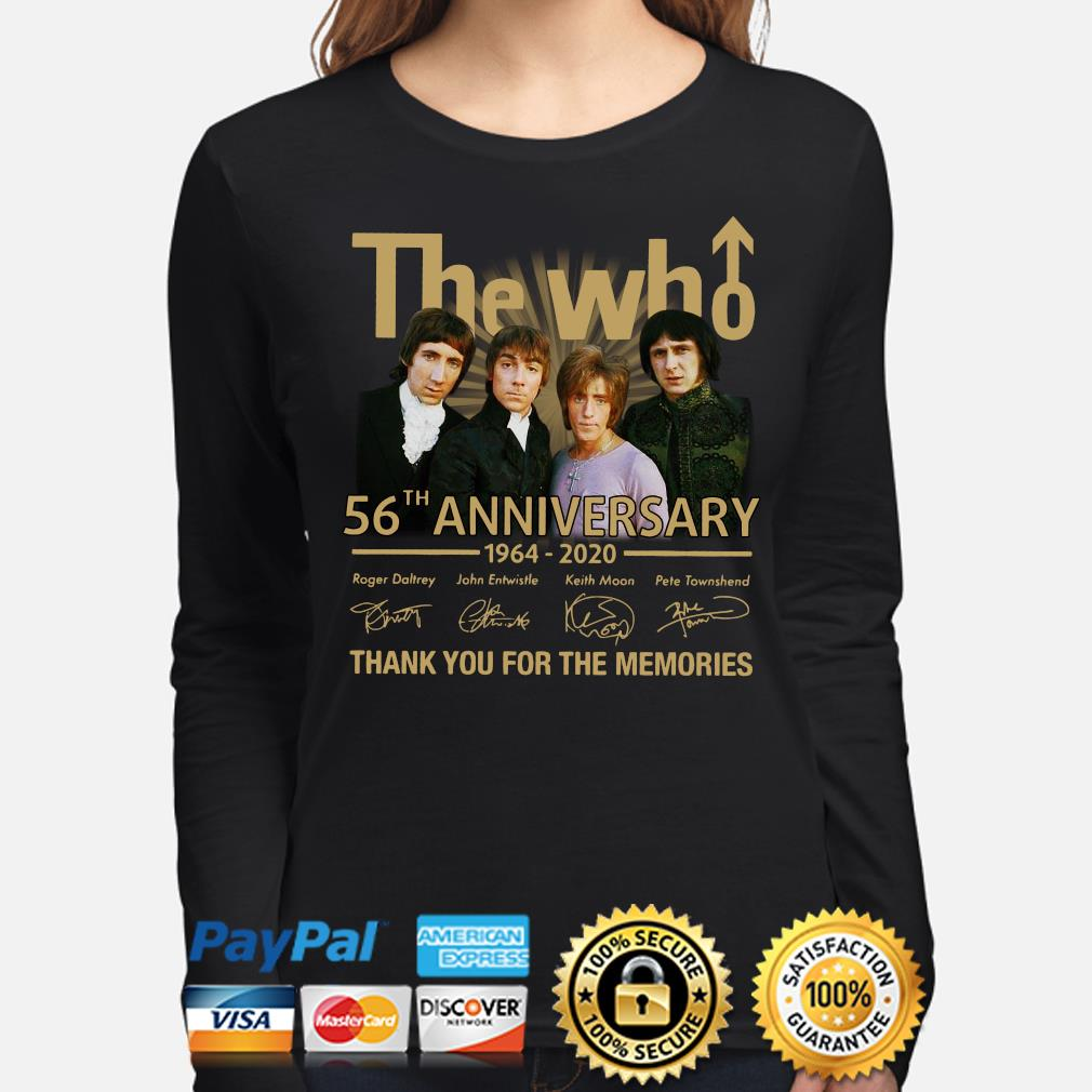 The Who 56th anniversary thank you for the memories signature s long-sleeve