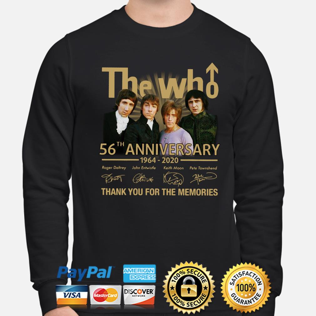 The Who 56th anniversary thank you for the memories signature s sweater
