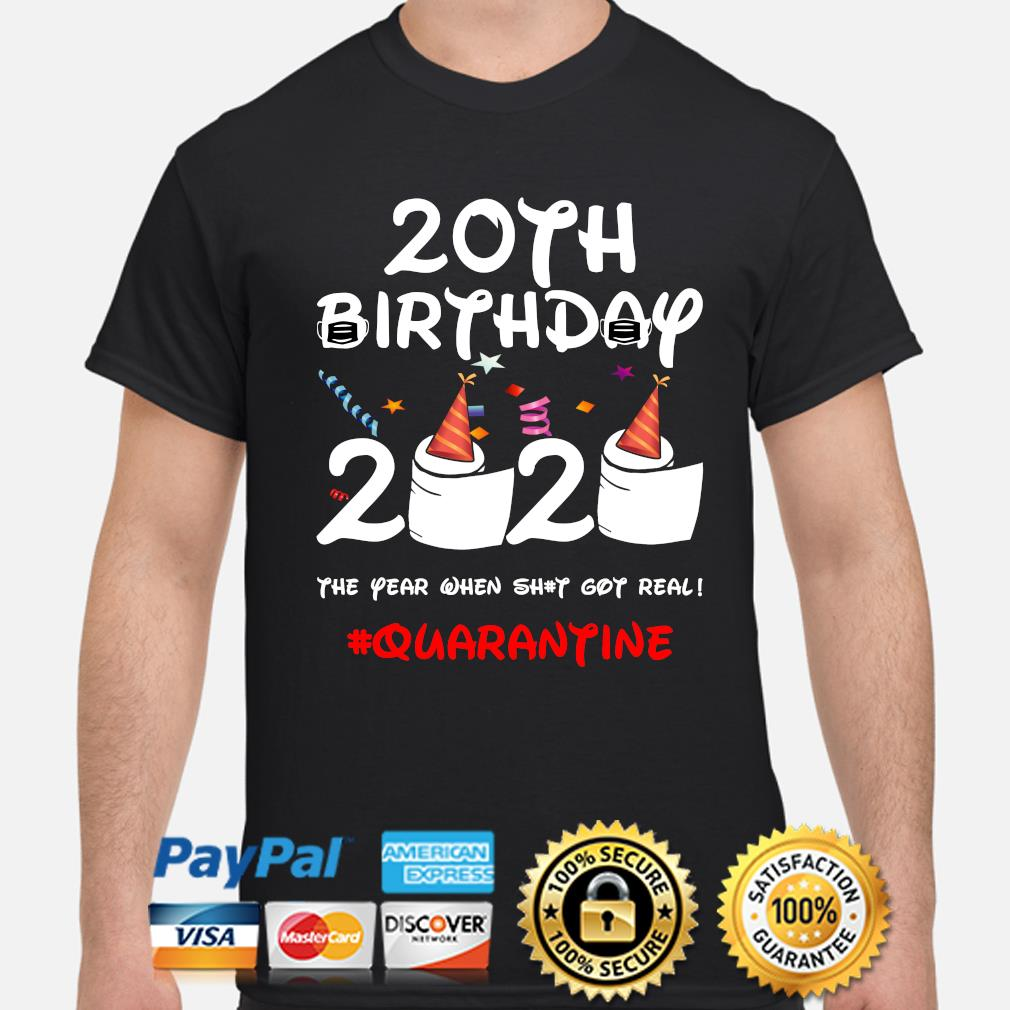 20th Birthday 2020 #Quarantine Official T-Shirt