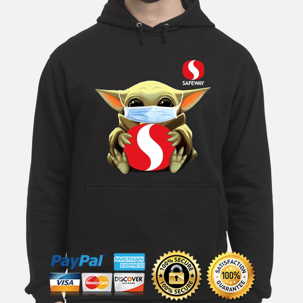Baby Yoda face mask hug Safeway s hoodie