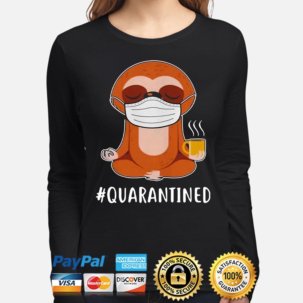 Sloth Mask Namaste #Quarantined s long-sleeve