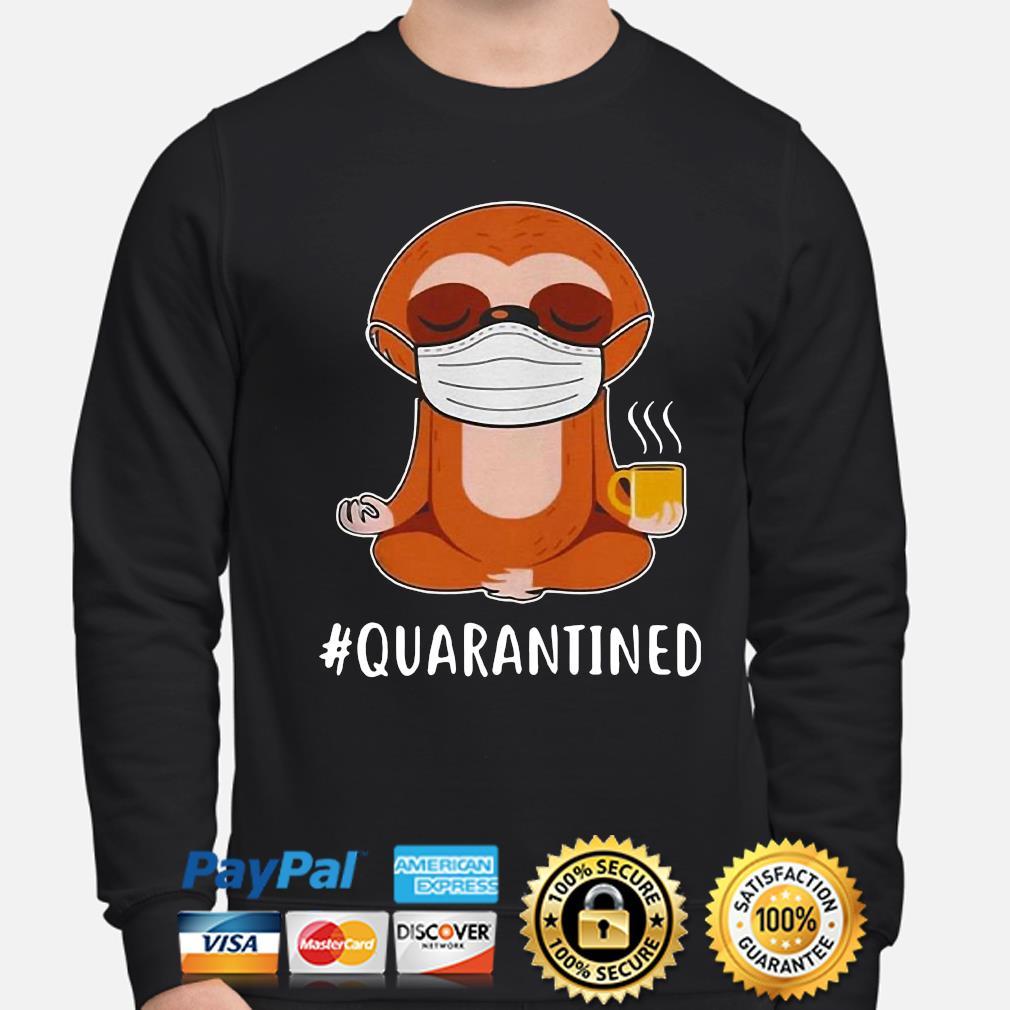 Sloth Mask Namaste #Quarantined s sweater