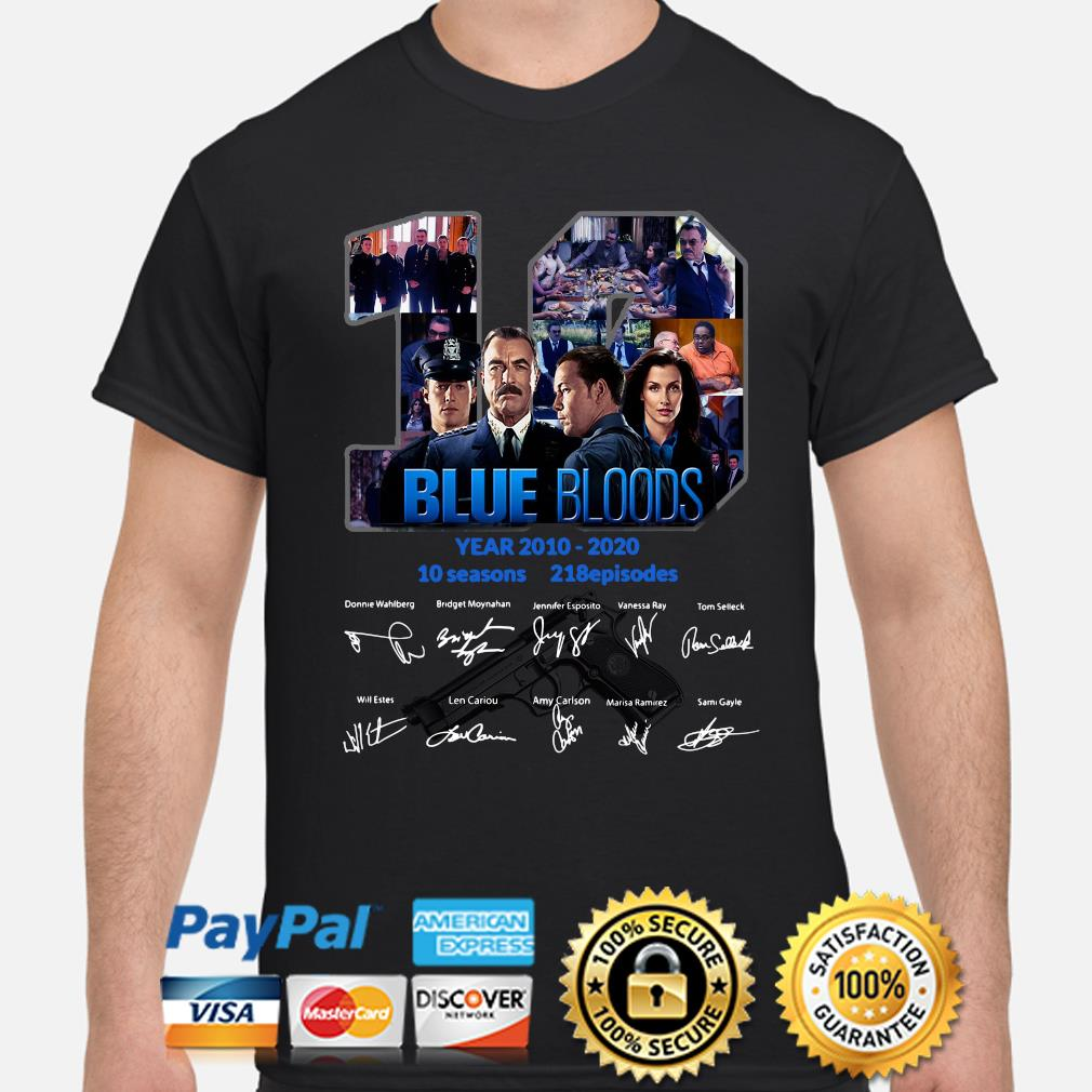 10 years of Blue Bloods signature shirt