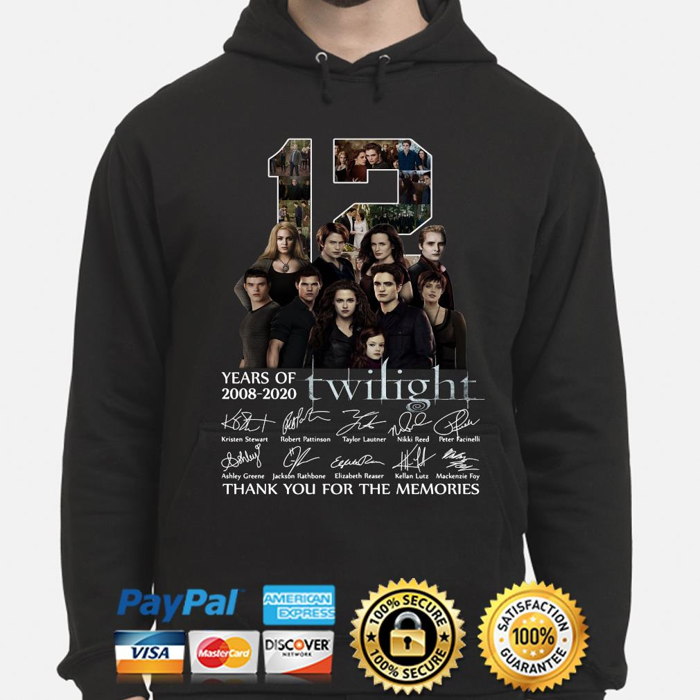 12 years of Twilight thank you for the memories signature s hoodie