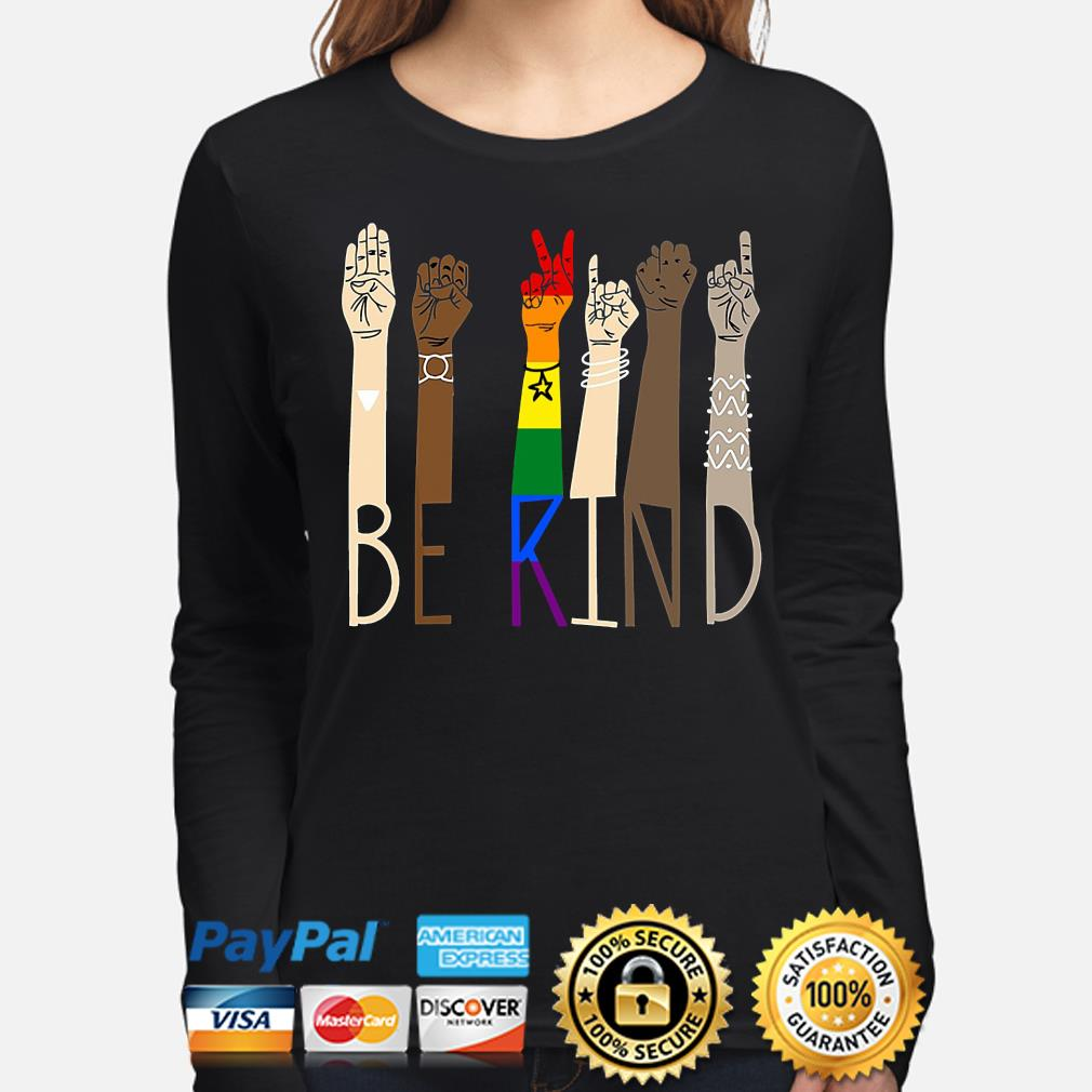 LGBT Be kind sign language s long-sleeve