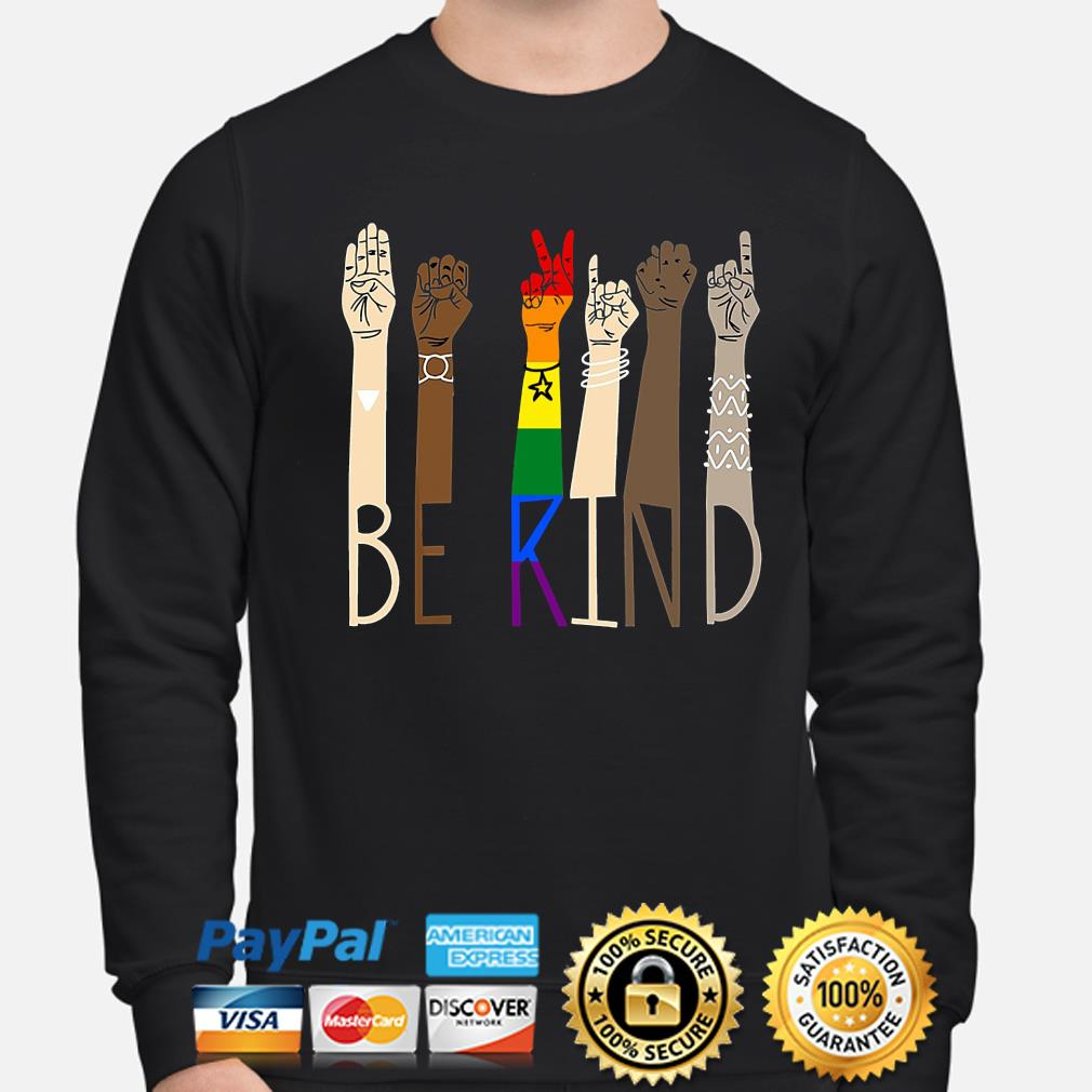 LGBT Be kind sign language s sweater