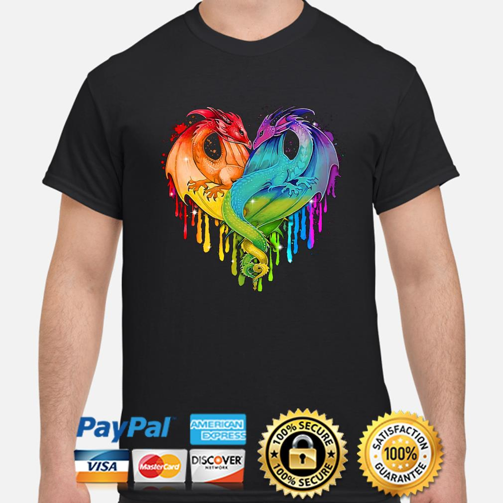 LGBT Dragons heart shirt